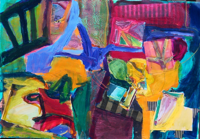Abstract Composition with Chair - 26x37
