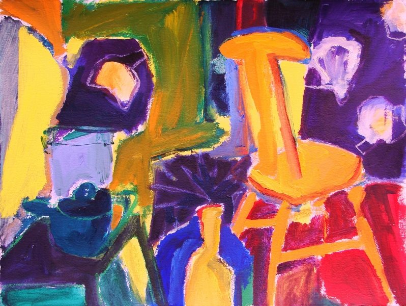 Still Life with Orange Chair - 22x30