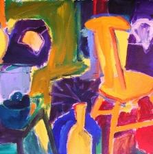 Still Life with Orange Chair - 22x30