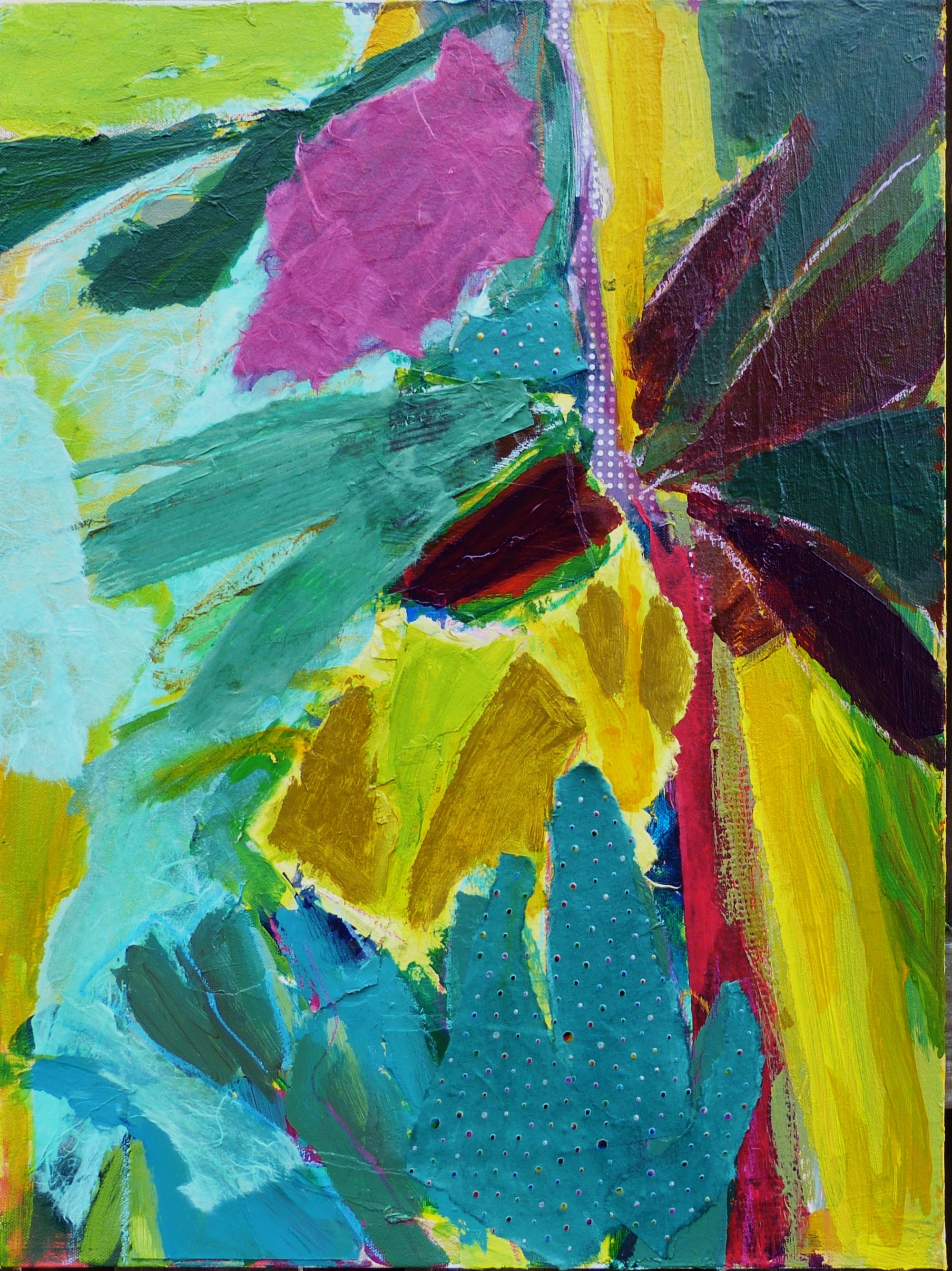 Abstract Flora - 24x18