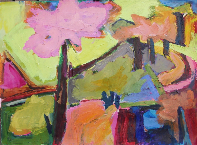 Landscape with Pink Trees - 22x30