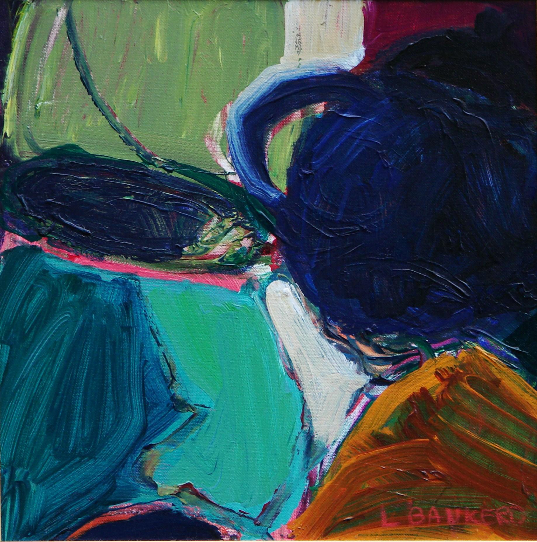 Bluegreen Pot Blue Teapot - 12x12