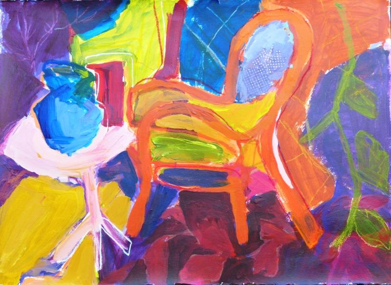 Interior with Orange Chair - 22x30