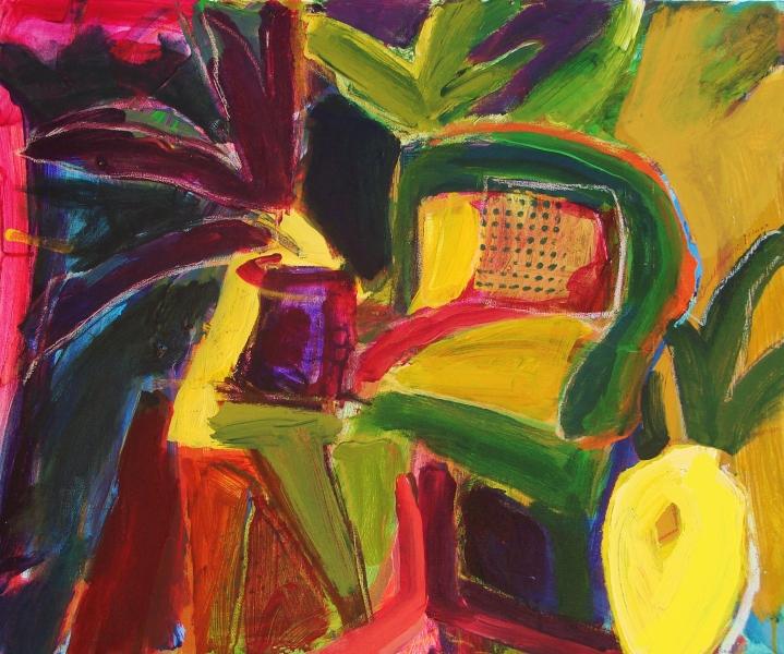 Interior with Yellow Vase - 18x24
